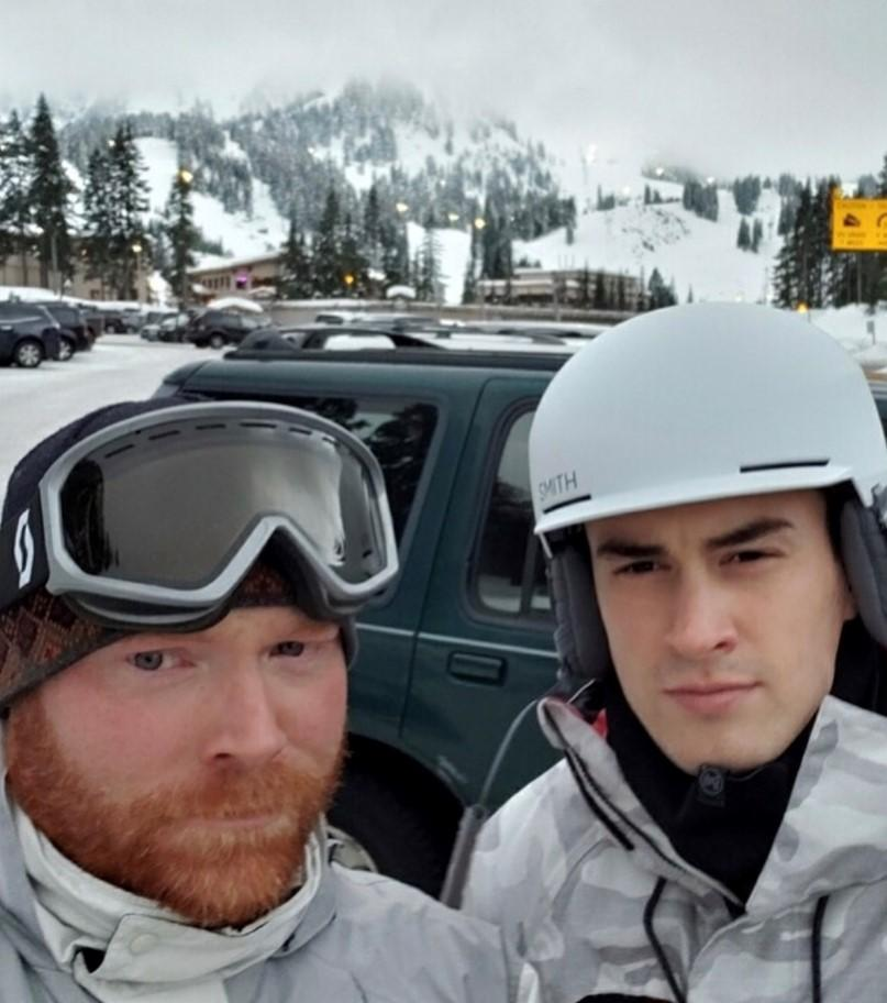 Tyler and Mike hit the slopes