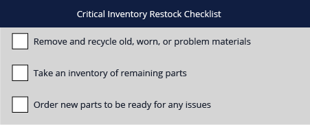 Critical Inventory Restock Checklist